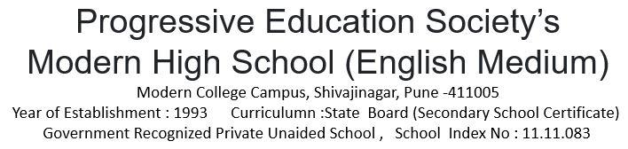 Modern School English Medium Pune